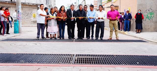 Entrega de la obra de drenaje pluvial comunidad de Jesús, San Pablo del Monte